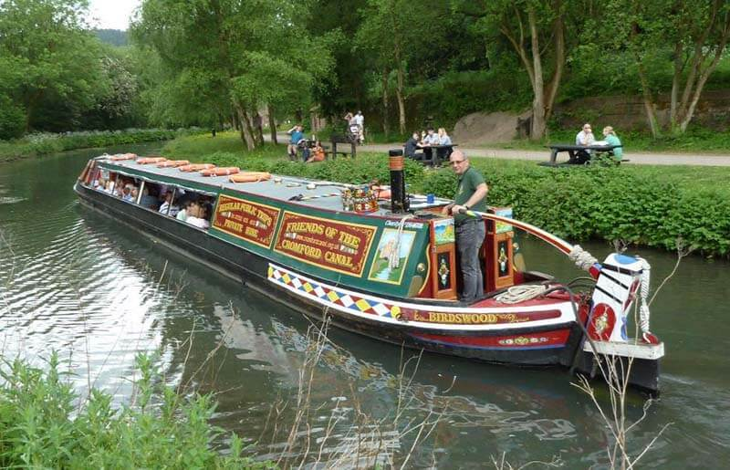Birdsong barge at Cromford Canal