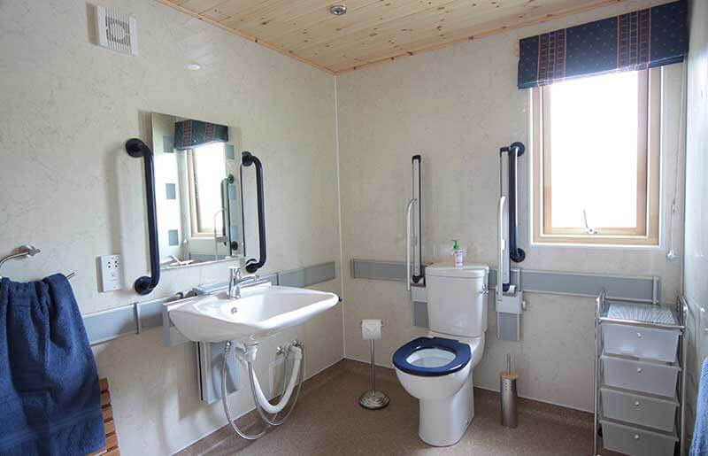 accessible bathroom with Presalit Care wash basin