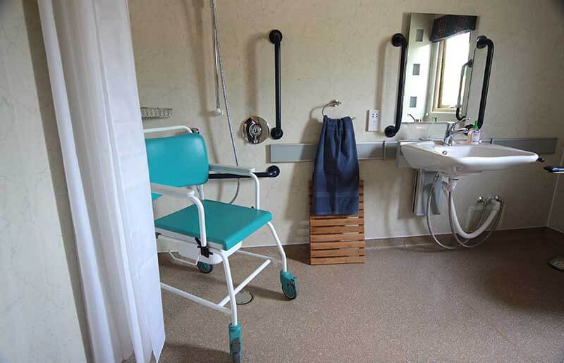 wheelcahir accessible shower room