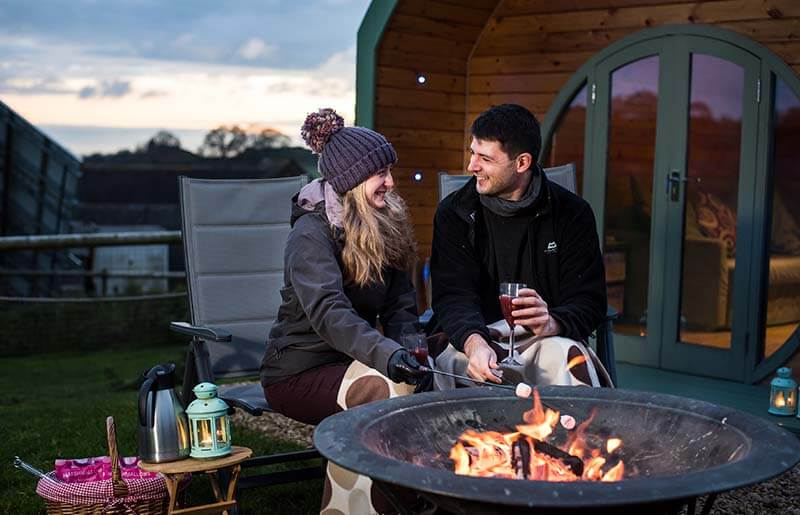 glamping pod for two Peak Dsitrict
