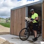 Secure cycle storage at Hoe Grange Holidays
