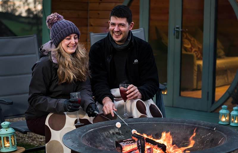 romantic short stay in a glamping pod
