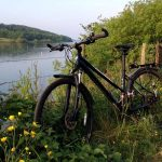 Cycling at Carsington Water