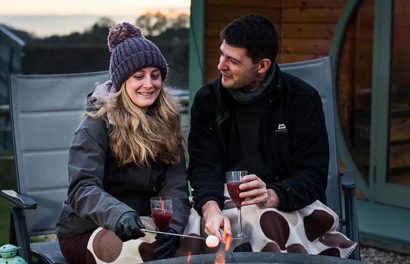 romantic glamping holiday