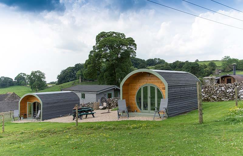 glamping pods with ensuite facilities