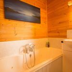 Pinder log cabin family bathroom