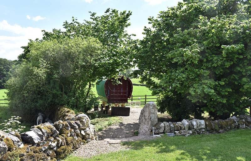 Gypsy caravan holidays on a farm