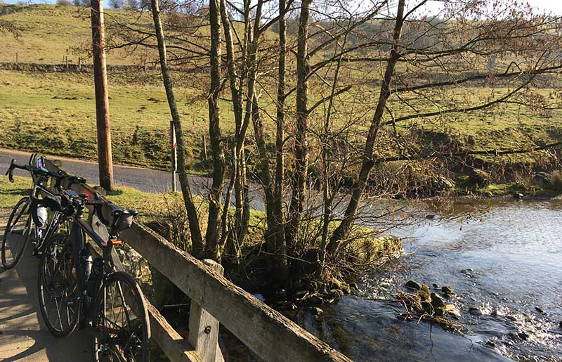 Cycling near Tissington Ford