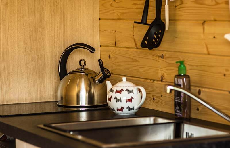 glamping kitchen