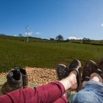 farm view from glamping pod