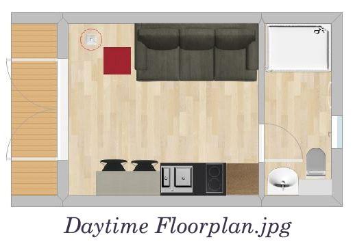 Glamping Pods Daytime Floorplan