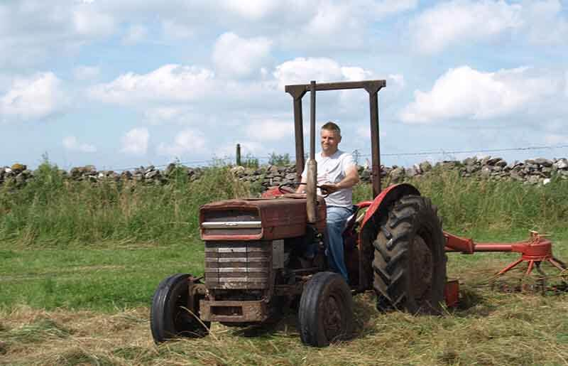 David Brown on tractor
