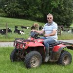 Farmer David on quad bike