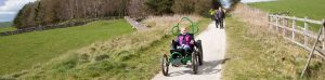 off-road wheelchair on trail