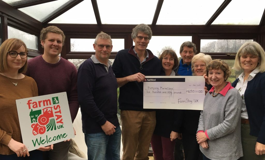 Pumping Marvellous Charity cheque