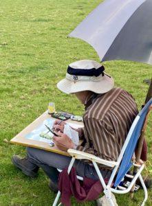 watercolour artist Roger Allen
