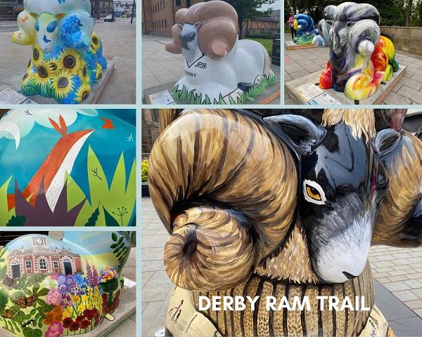 Derby Ram Trail sculptures